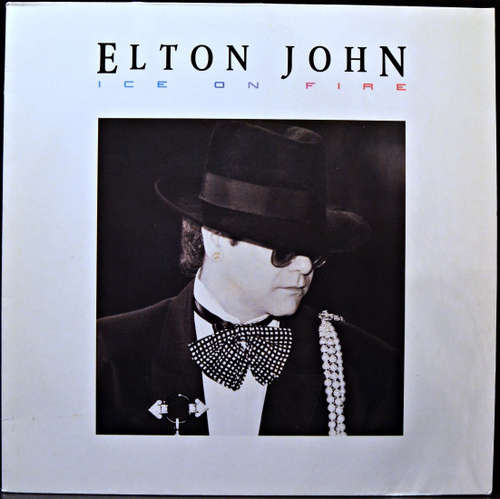 Cover zu Elton John - Ice On Fire (LP, Album, Clu) Schallplatten Ankauf