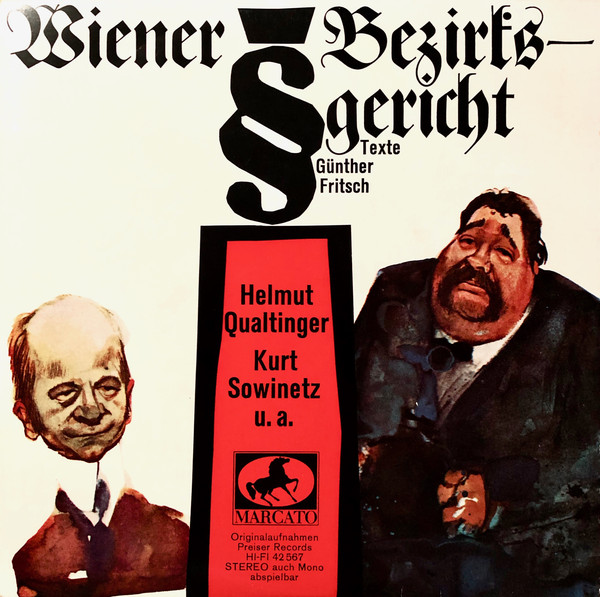 Cover Günther Fritsch, Helmut Qualtinger, Kurt Sowinetz - Wiener Bezirksgericht (7, EP) Schallplatten Ankauf
