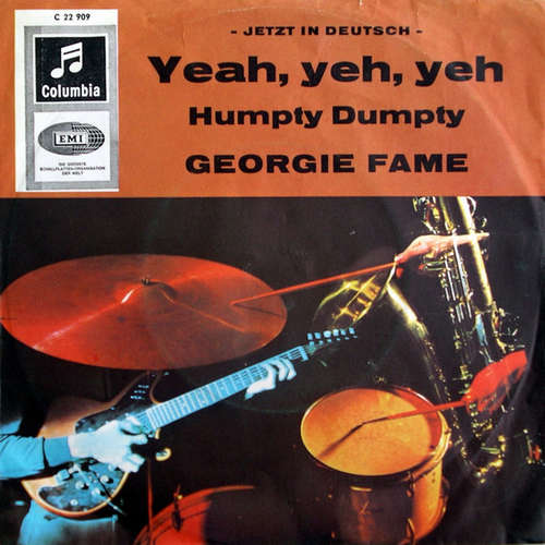 Cover Georgie Fame - Yeah, Yeh, Yeh - Jetzt In Deutsch - (7, Single) Schallplatten Ankauf