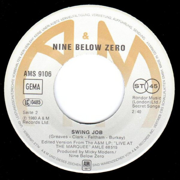 Bild Nine Below Zero - I Can't Help Myself (7, Single) Schallplatten Ankauf