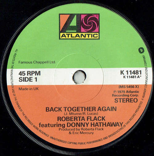 Bild Roberta Flack Featuring Donny Hathaway - Back Together Again (7) Schallplatten Ankauf