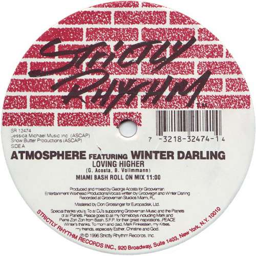 Bild Atmosphere (7) Featuring Winter Darling - Loving Higher (12) Schallplatten Ankauf
