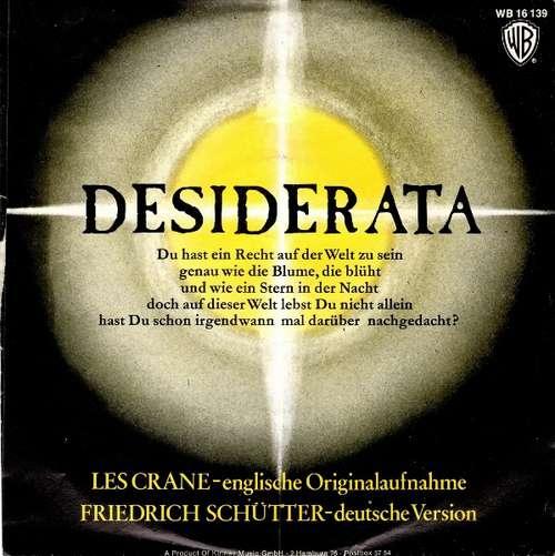 Bild Les Crane / Friedrich Schütter - Desiderata (7, Single) Schallplatten Ankauf
