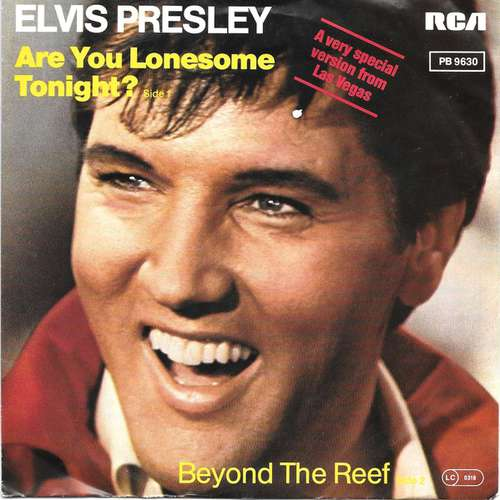Cover Elvis Presley - Are You Lonesome Tonight? / Beyond The Reef (7, Single) Schallplatten Ankauf