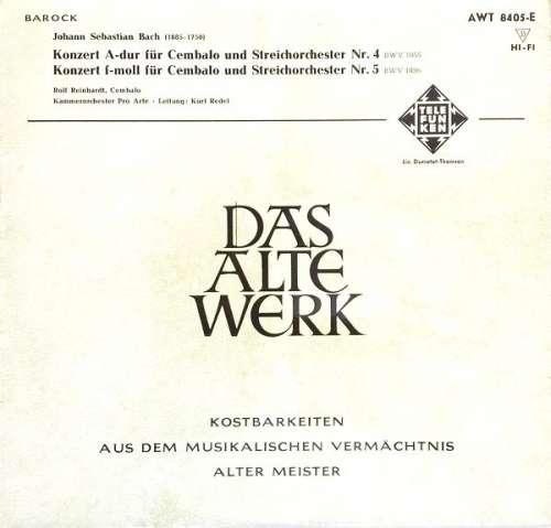 Bild Johann Sebastian Bach - Konzert Für Cembalo Und Streichorchester Nr. 4 / Konzert F-Moll Für Cembalo Und Streichorchester Nr. 5 (10) Schallplatten Ankauf