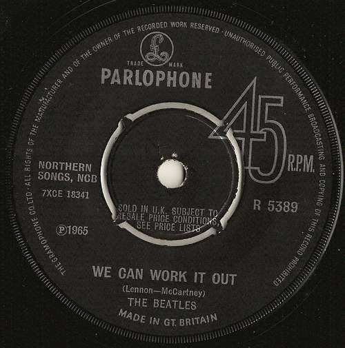 Cover The Beatles - We Can Work It Out / Day Tripper (7, Single, RE) Schallplatten Ankauf
