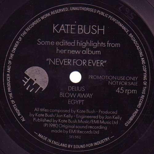 Bild Kate Bush - Some Edited Highlights From Her New Album Never For Ever (Flexi, 7, Shape, S/Sided, Promo, Unc) Schallplatten Ankauf