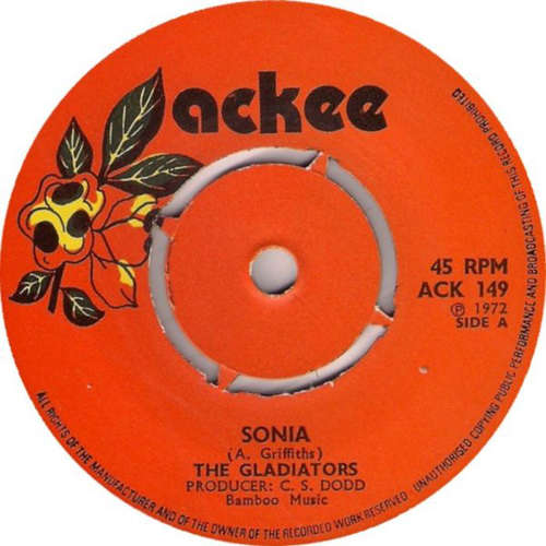 Cover The Gladiators - Sonia (7) Schallplatten Ankauf