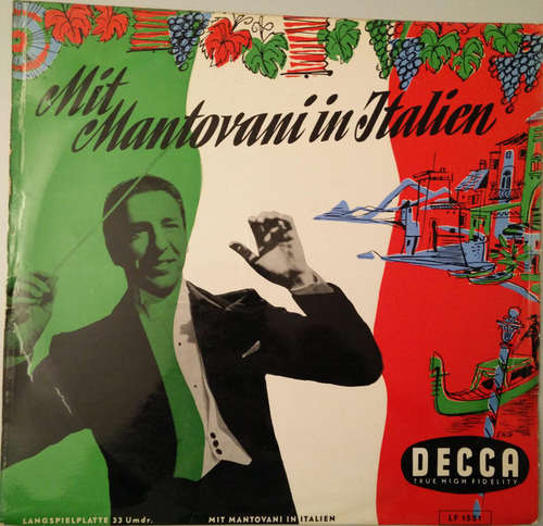 Cover Mantovani And His Orchestra - Mit Mantovani In Italien (10) Schallplatten Ankauf