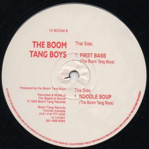 Cover Boom Tang Boys, The* - First Bass / Noddle Soup (12) Schallplatten Ankauf