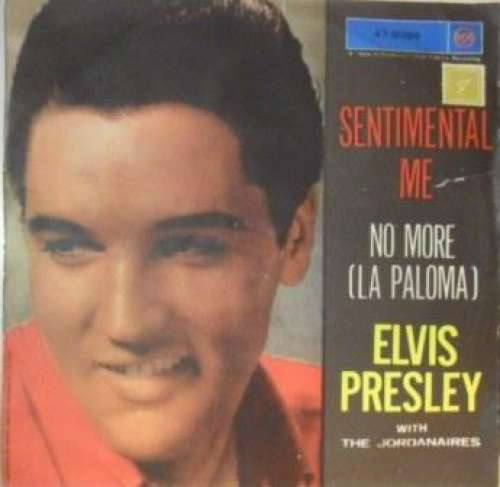 Cover Elvis Presley With Jordanaires, The - No More La (Paloma) / Sentimental Me (7, RP) Schallplatten Ankauf
