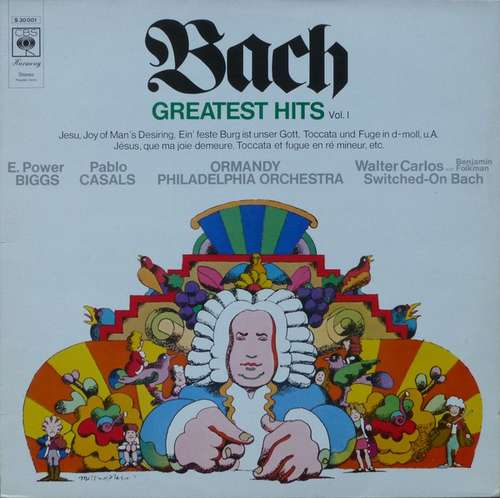 Bild Bach* / E. Power Biggs, Pablo Casals, Ormandy*, Philadelphia Orchestra*, Walter Carlos With Benjamin Folkman - Greatest Hits (Vol. I) (LP, Comp) Schallplatten Ankauf