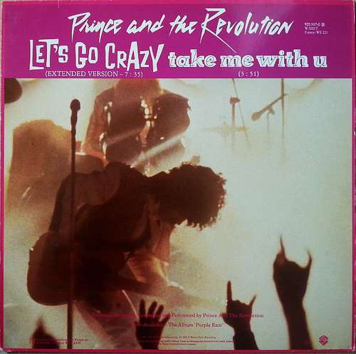 Cover Prince And The Revolution - Let's Go Crazy / Take Me With U / Erotic City (12) Schallplatten Ankauf