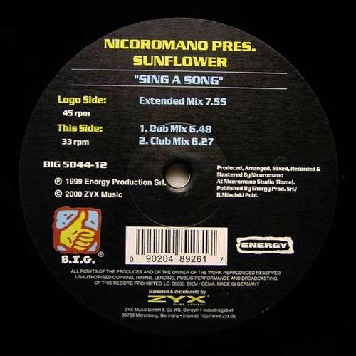 Bild Nicoromano Pres. Sunflower (2) - Sing A Song (12) Schallplatten Ankauf