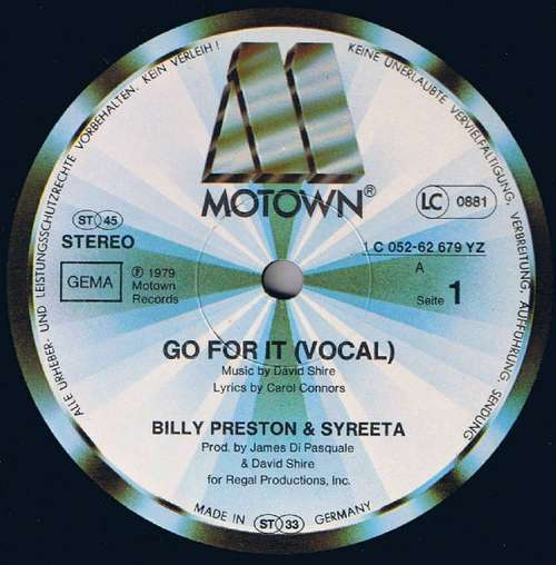 Bild Billy Preston & Syreeta - Go For It (12, Maxi) Schallplatten Ankauf