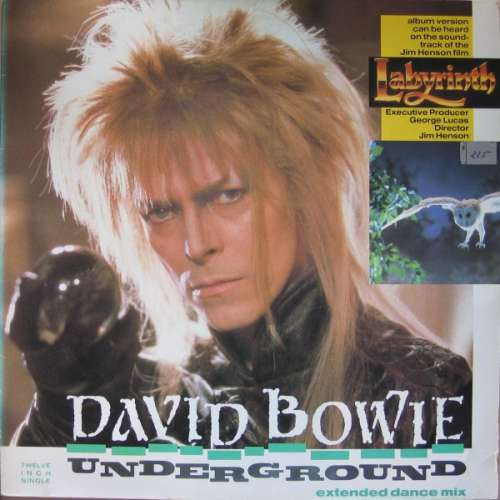 Cover David Bowie - Underground (Extended Dance Mix) (12, Single) Schallplatten Ankauf