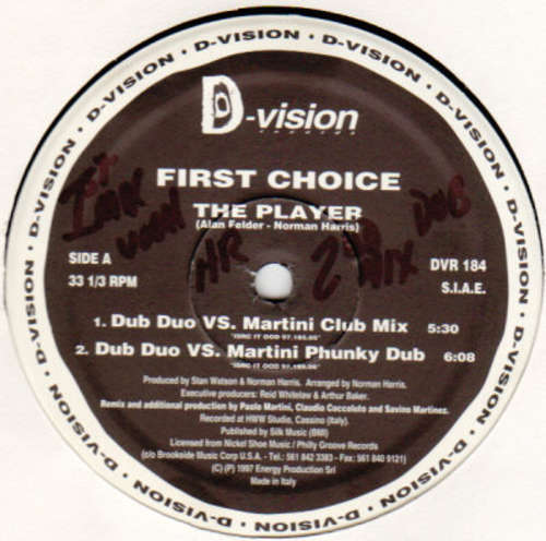 Bild First Choice - The Player (1997 Italian Mixes) (12, Maxi) Schallplatten Ankauf