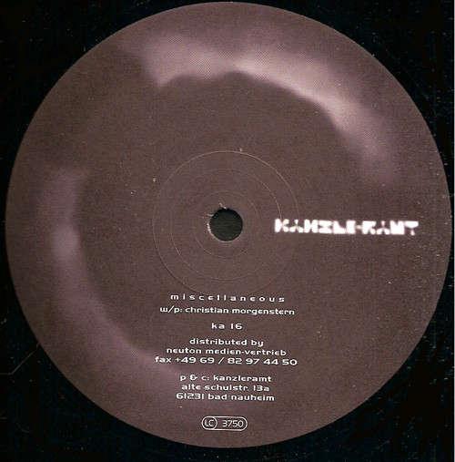 Cover Christian Morgenstern - Miscellaneous (2xLP) Schallplatten Ankauf