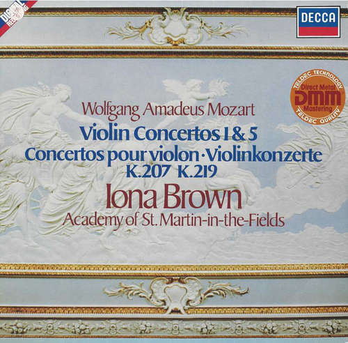 Bild Wolfgang Amadeus Mozart, Iona Brown, Academy Of St. Martin-in-the-Fields* - Violin Concertos 1 & 5 (LP, Dir) Schallplatten Ankauf