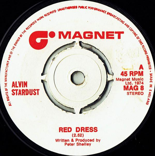 Bild Alvin Stardust - Red Dress (7, Single, Pus) Schallplatten Ankauf