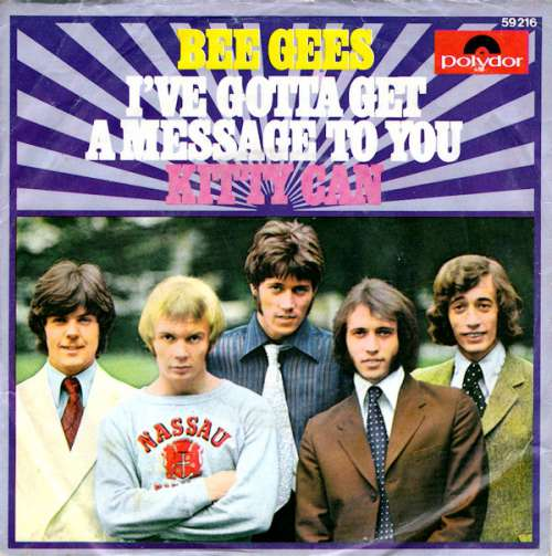 Bild Bee Gees - I've Gotta Get A Message To You / Kitty Can (7, Single, Mono) Schallplatten Ankauf