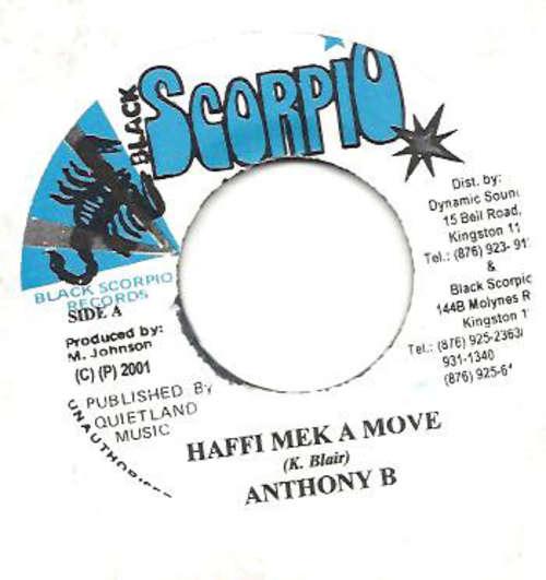 Cover zu Anthony B - Haffi Mek A Move  (7, Single) Schallplatten Ankauf