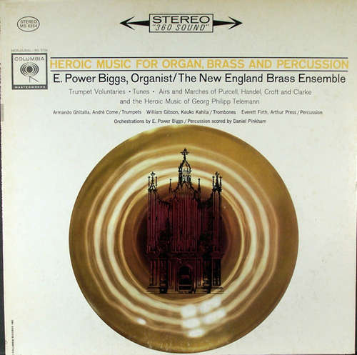 Cover E. Power Biggs, New England Brass Ensemble - Heroic Music For Organ, Brass And Percussion (LP, Album, RP) Schallplatten Ankauf