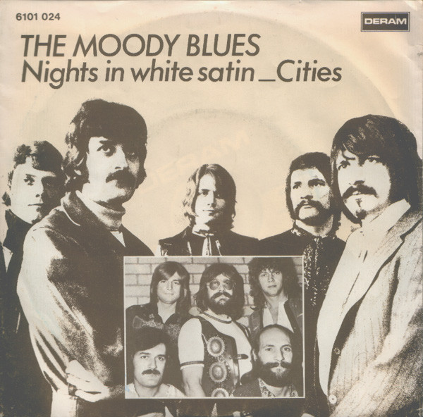 Cover The Moody Blues - Nights In White Satin / Cities (7, Single, RE) Schallplatten Ankauf