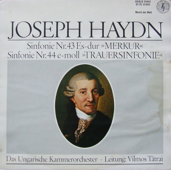 Cover Haydn*, Ungarische Kammerorchester*, Vilmos Tátrai - Sinfonie Nr. 43 Es-Dur Merkur / Sinfonie Nr. 44 E-Moll Trauersinfonie (LP, Album, Mono) Schallplatten Ankauf
