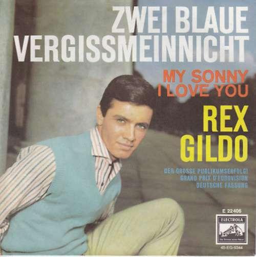 Cover Rex Gildo - Zwei Blaue Vergissmeinnicht (7, Single) Schallplatten Ankauf