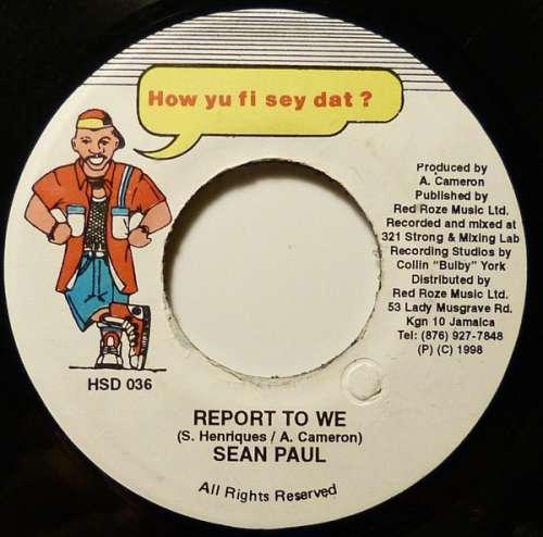 Bild Sean Paul - Report To We (7) Schallplatten Ankauf