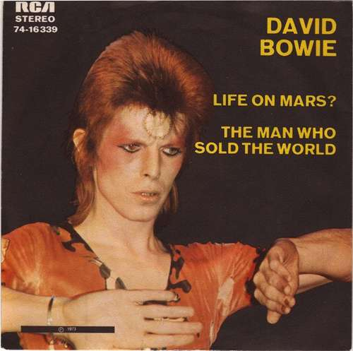 Cover David Bowie - Life On Mars? / The Man Who Sold The World (7, Single) Schallplatten Ankauf