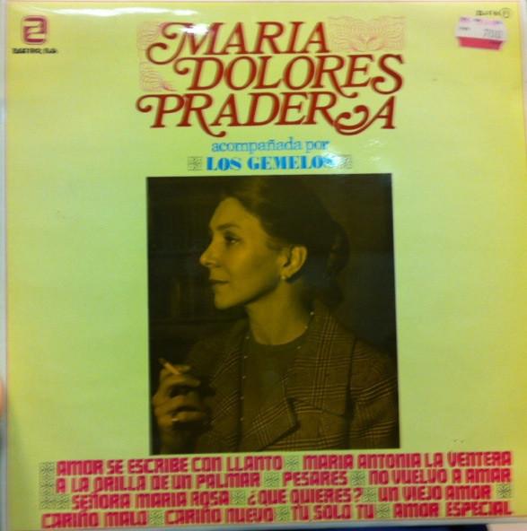Cover zu Maria Dolores Pradera Acompañada Por Los Gemelos - Maria Dolores Pradera Acompañada Por Los Gemelos (LP, Album, RE) Schallplatten Ankauf