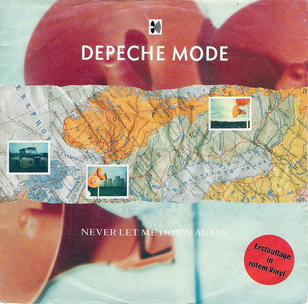 Cover Depeche Mode - Never Let Me Down Again (7, Single, Red) Schallplatten Ankauf
