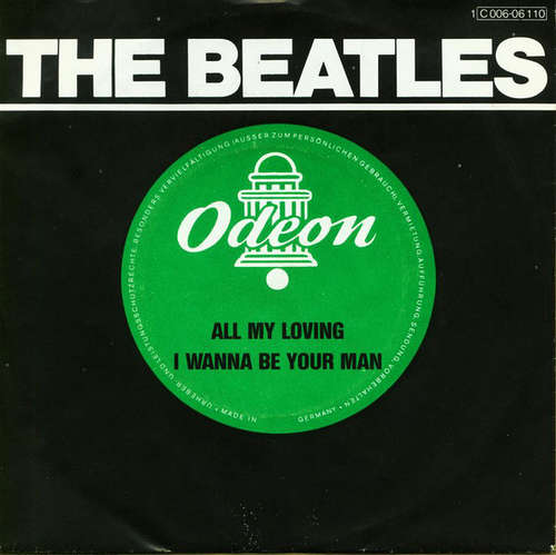 Cover The Beatles - All My Loving / I Wanna Be Your Man (7, Single, RE) Schallplatten Ankauf
