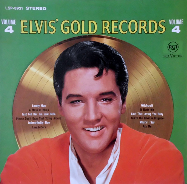 Cover Elvis Presley - Elvis' Gold Records Volume 4 (LP, Comp, 1st) Schallplatten Ankauf