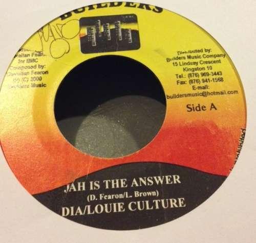 Bild Dia (2) & Louie Culture / Coca Tea* & Cudjoe* & Determine - Jah is the Answer / Down The Lane  (7) Schallplatten Ankauf