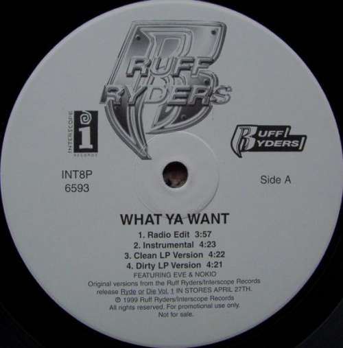 Cover Ruff Ryders - What Ya Want / Down Bottom (12, Promo) Schallplatten Ankauf