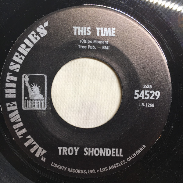 Cover Troy Shondell - This Time / Tears From An Angel (7) Schallplatten Ankauf