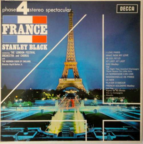 Cover Stanley Black Conducting The London Festival Orchestra And Chorus With The Mormon Choir Of England - France (LP, Album) Schallplatten Ankauf