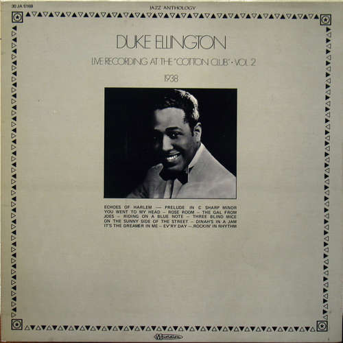 Cover Duke Ellington - Live Recording At The Cotton Club - Vol. 2 (LP, Album) Schallplatten Ankauf