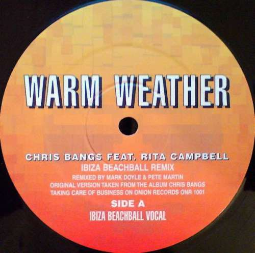 Bild Chris Bangs Feat. Rita Campbell - Warm Weather (Ibiza Beachball Remix) (12) Schallplatten Ankauf