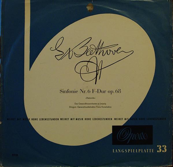 Cover zu Franz Konwitschny, Ludwig van Beethoven - Sinfonie Nr. 6 F-Dur Op. 68 (LP, Album) Schallplatten Ankauf