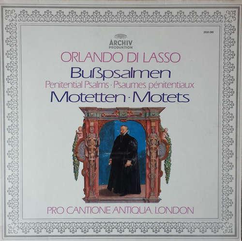 Cover zu Orlando di Lasso* - Pro Cantione Antiqua, London* - Bußpsalmen / Motetten (LP) Schallplatten Ankauf