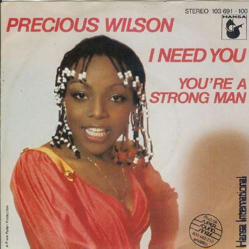 Bild Precious Wilson - I Need You / You're A Strong Man (7) Schallplatten Ankauf