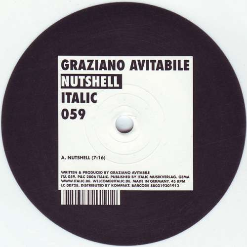 Bild Graziano Avitabile - Nutshell (12, S/Sided, Ltd, Whi) Schallplatten Ankauf