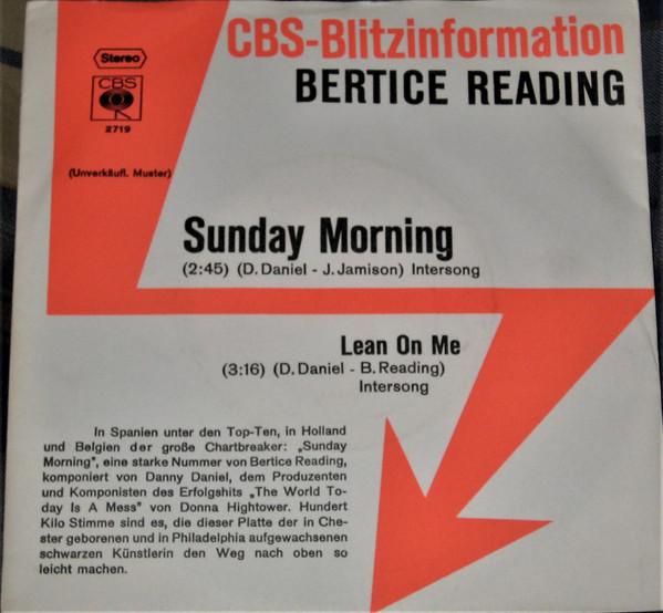 Bild Bertice Reading - Sunday Morning (7, Promo) Schallplatten Ankauf