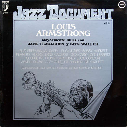 Bild Louis Armstrong With Jack Teagarden And Fats Waller - Mostly Blues = Mayormente Blues (LP, Album) Schallplatten Ankauf