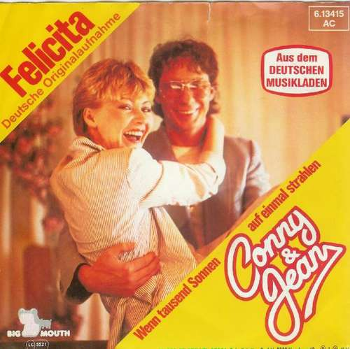 Bild Conny & Jean - Felicita (7, Single) Schallplatten Ankauf