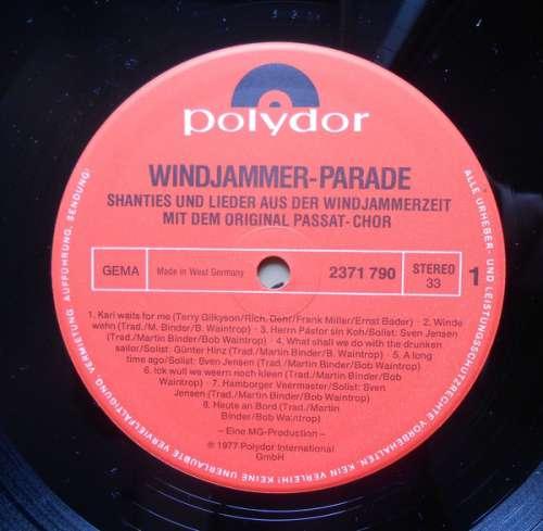 Bild Passat Chor - Windjammer-Parade -Shanties Und Lieder Aus Der Windjammerzeit Mit Dem Original Passat-Chor- (LP, Album) Schallplatten Ankauf